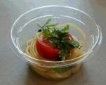 さっぱりトマトと季節の野菜の冷製パスタ